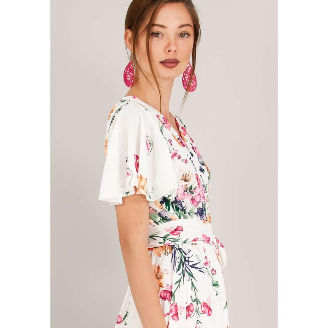 Maxi δετό φλοράλ φόρεμα. ενδυματα   φορεματα   κρουαζέ φορέματα
