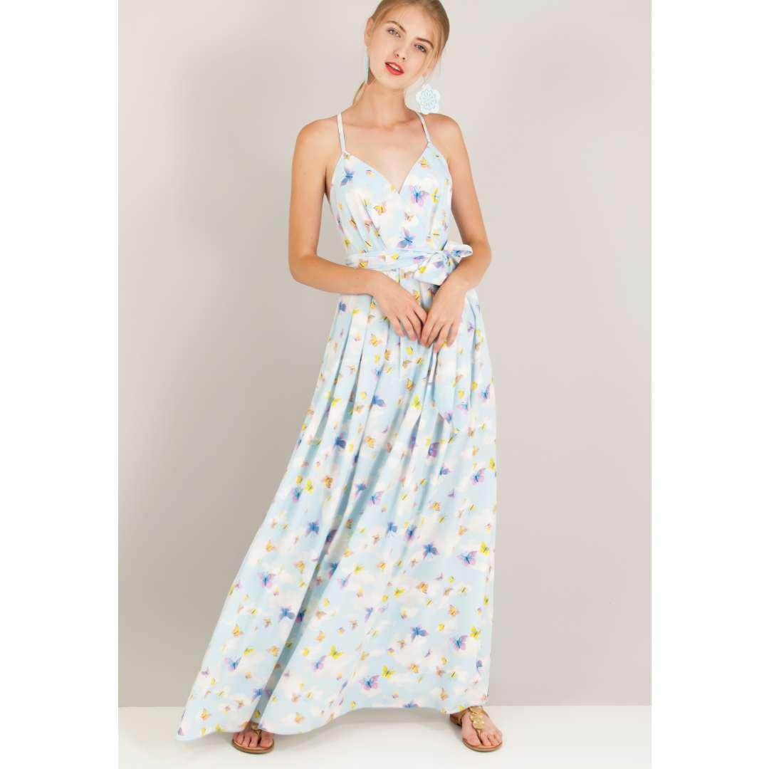 Φόρεμα με τύπωμα πεταλούδες.