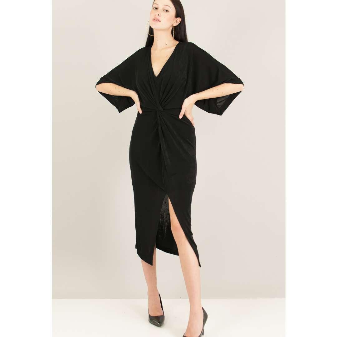 Μίντι φόρεμα με σχέδιο κόμπο.
