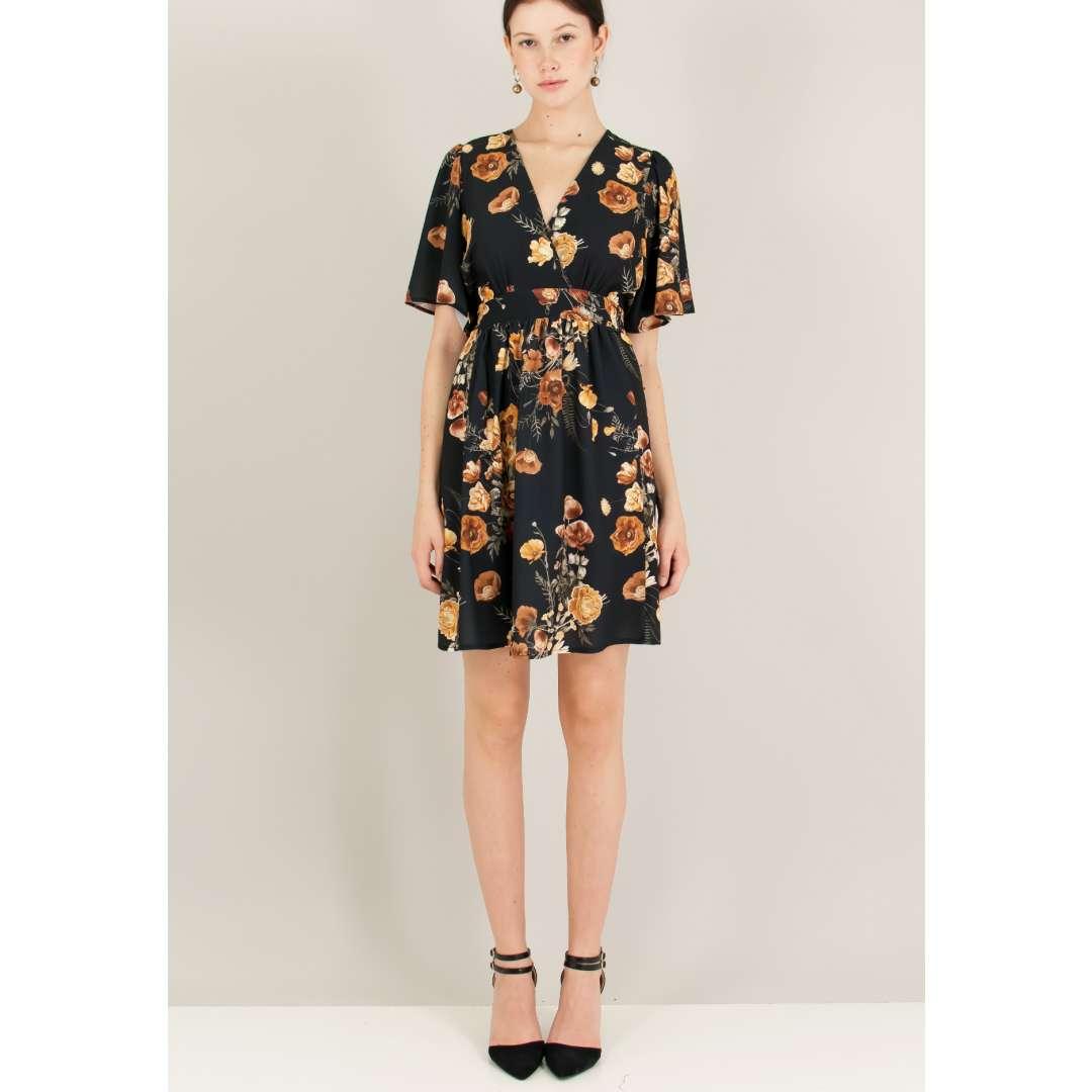Φλοράλ κρουαζέ φόρεμα.