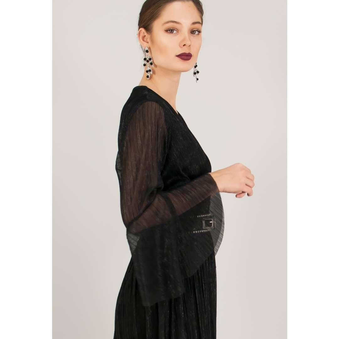 Μακρύ πλισέ φόρεμα. ενδυματα   φορεματα   κρουαζέ φορέματα
