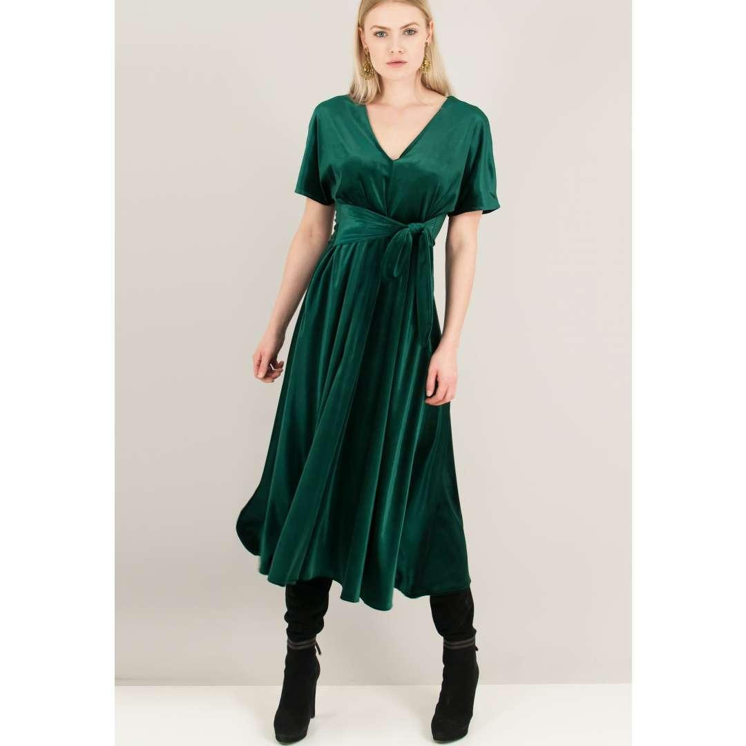 Βελούδινο κλος φόρεμα