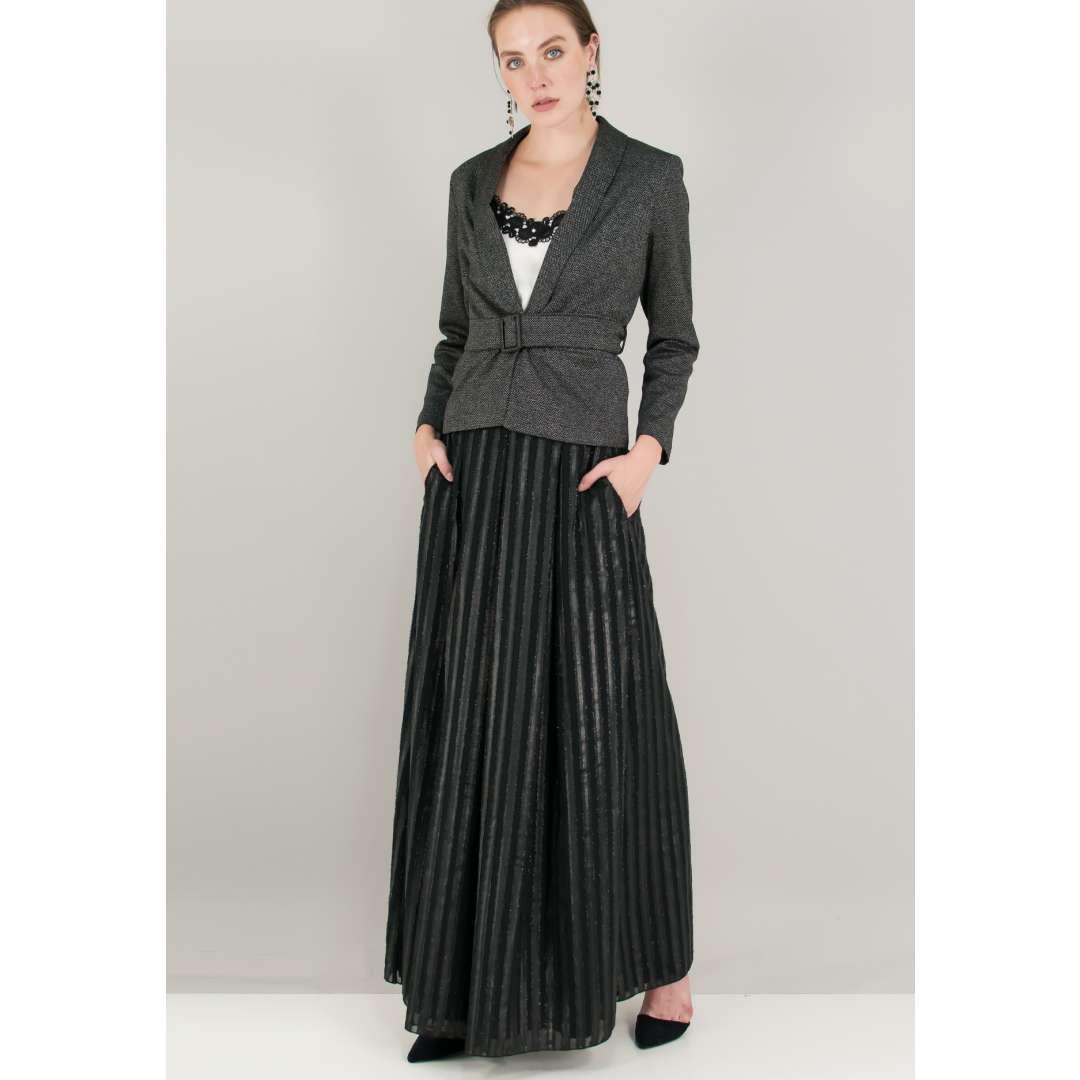 Λούρεξ φούστα με πιέτες μπροστά