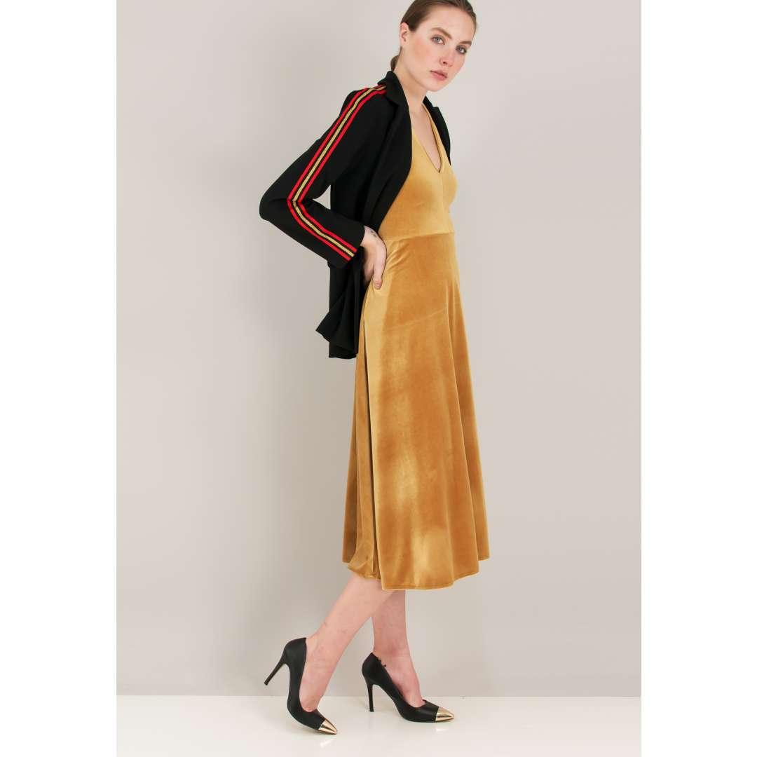 Μίντι βελούδινο φόρεμα