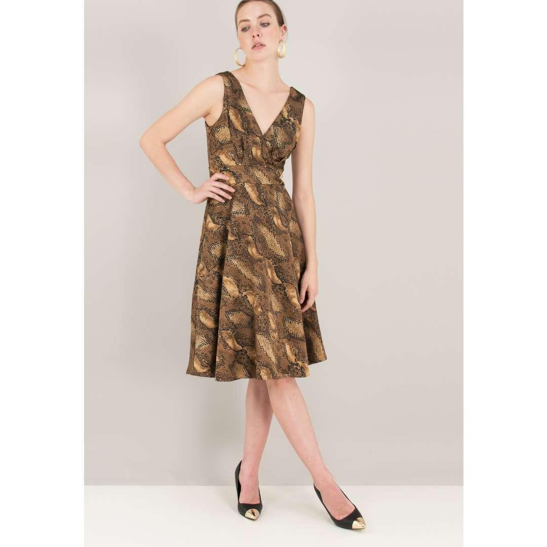Μίνι φόρεμα με σχέδιο φίδι ενδυματα   φορεματα   κρουαζέ φορέματα