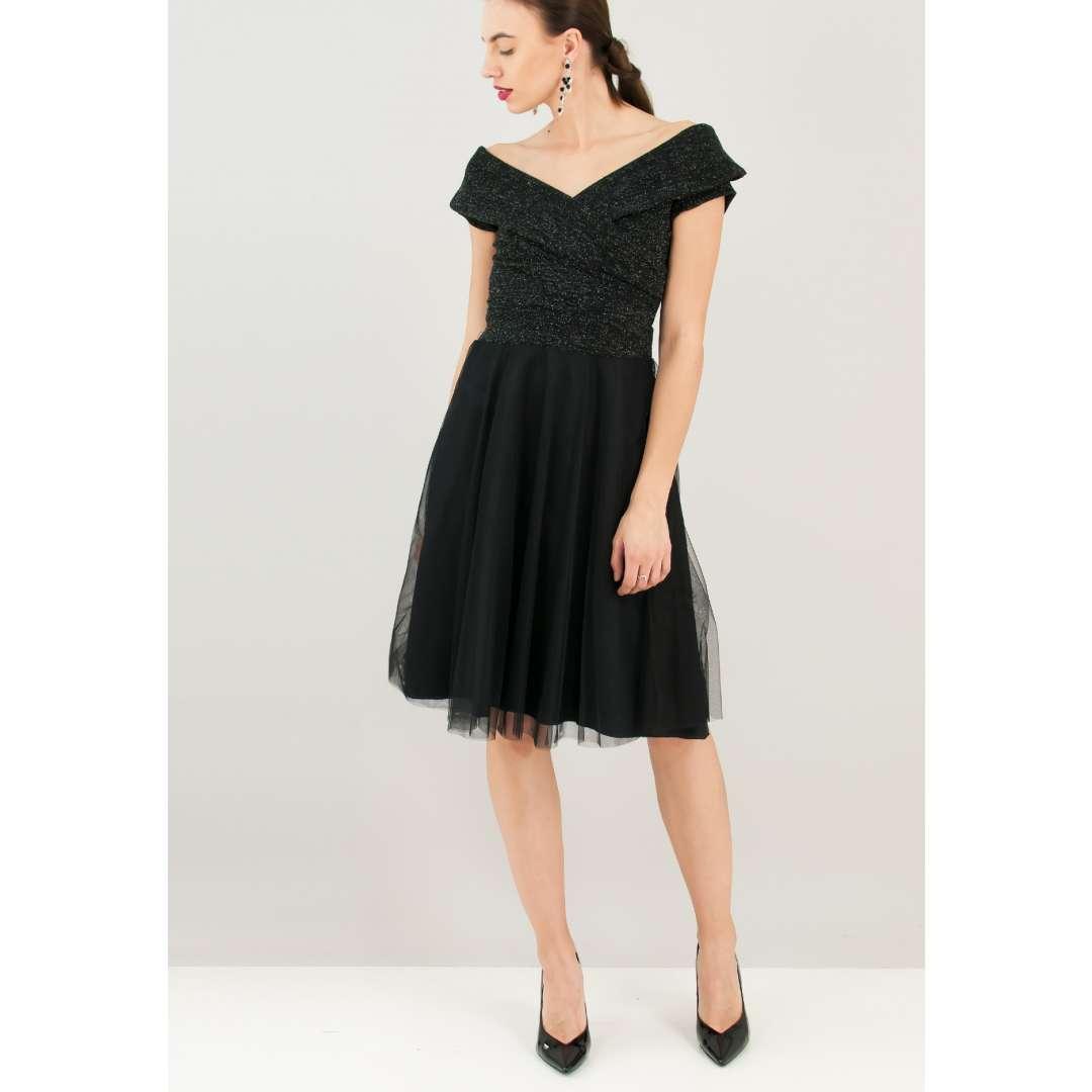 Φόρεμα με λούρεξ μπούστο ενδυματα   φορεματα   κρουαζέ φορέματα