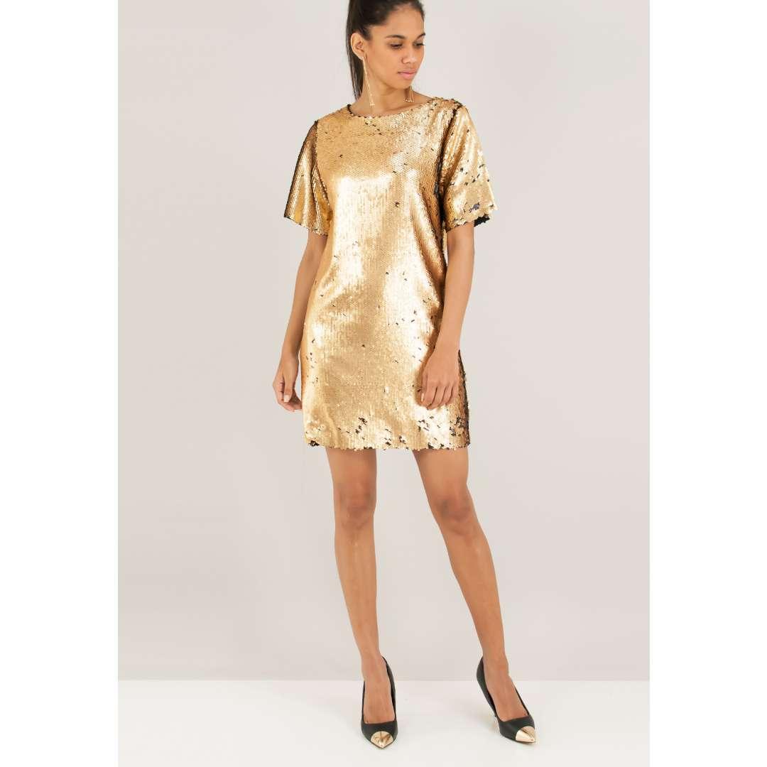 Μίνι φόρεμα με παγιέτες ενδυματα   φορεματα   μίνι φορέματα