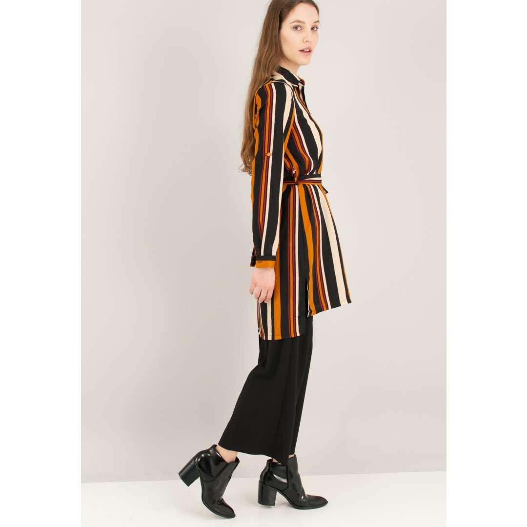 Ριγέ φόρεμα σε στιλ πουκάμισο με τσέπη μπροστά ενδυματα   φορεματα   shirt φορέματα