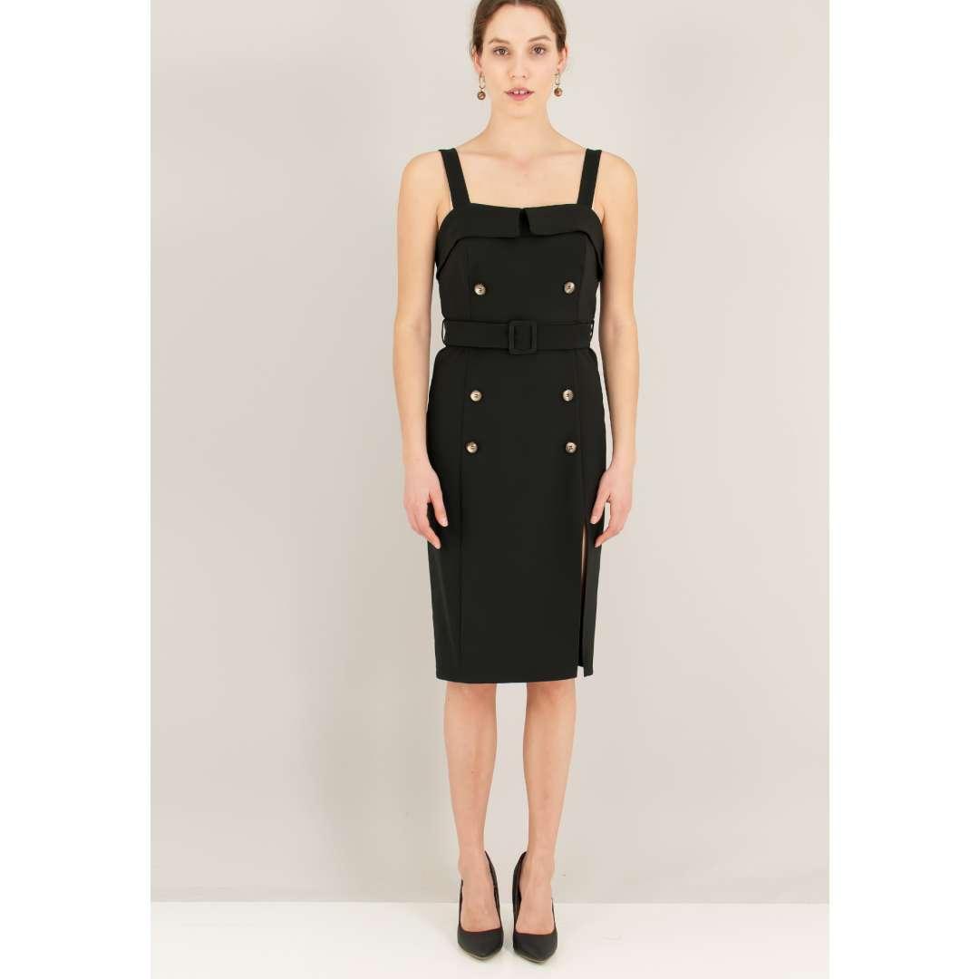 f6868602e24b Μίνι φόρεμα με κουμπιά.