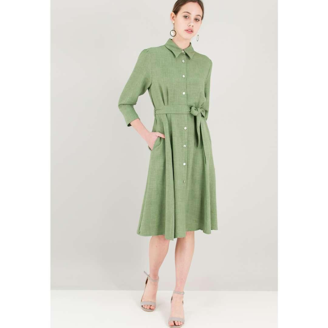 Μίντι φόρεμα σε στιλ πουκάμισο ενδυματα   φορεματα   shirt φορέματα