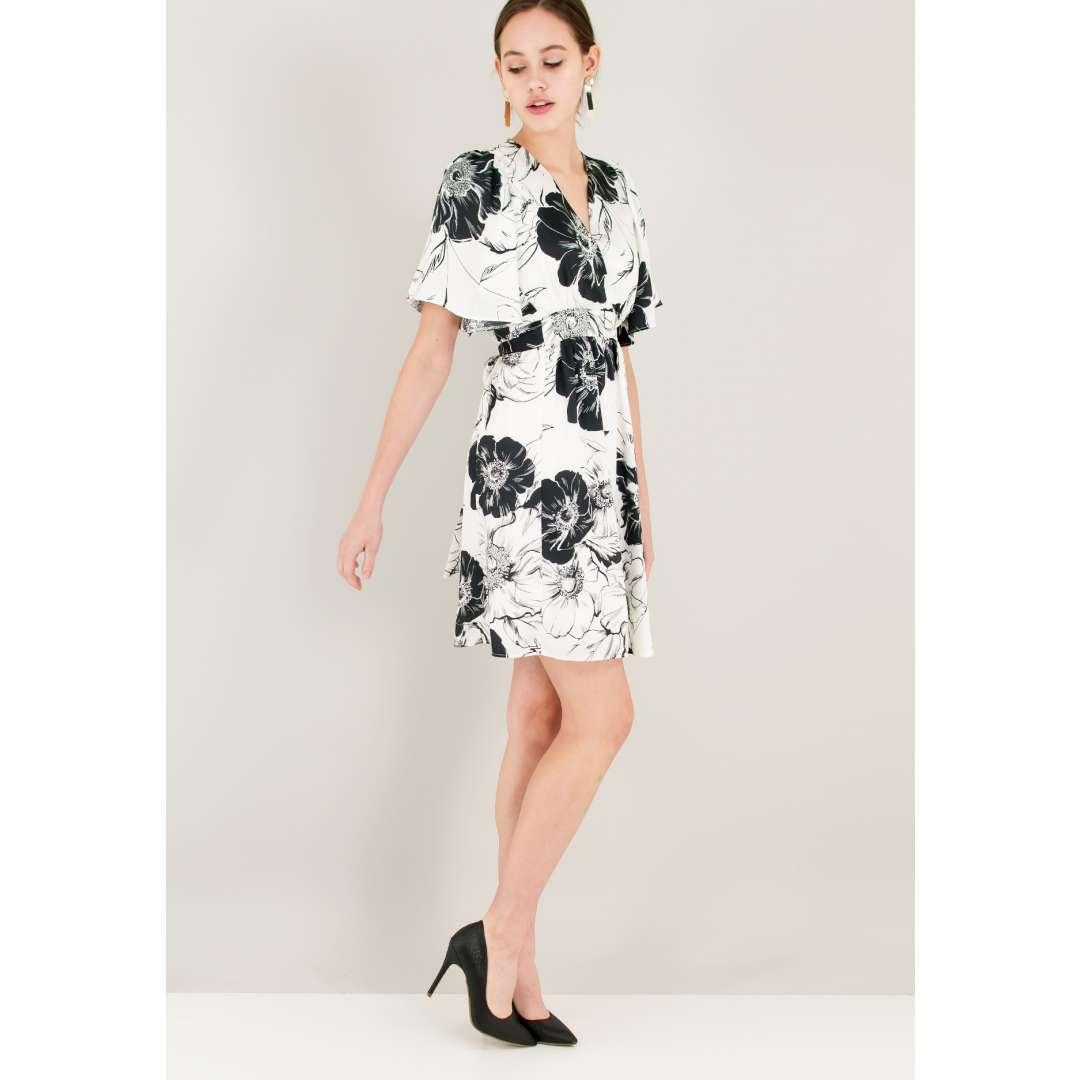Μίνι σατέν φόρεμα με φαρδύ μανίκι ενδυματα   φορεματα   κρουαζέ φορέματα