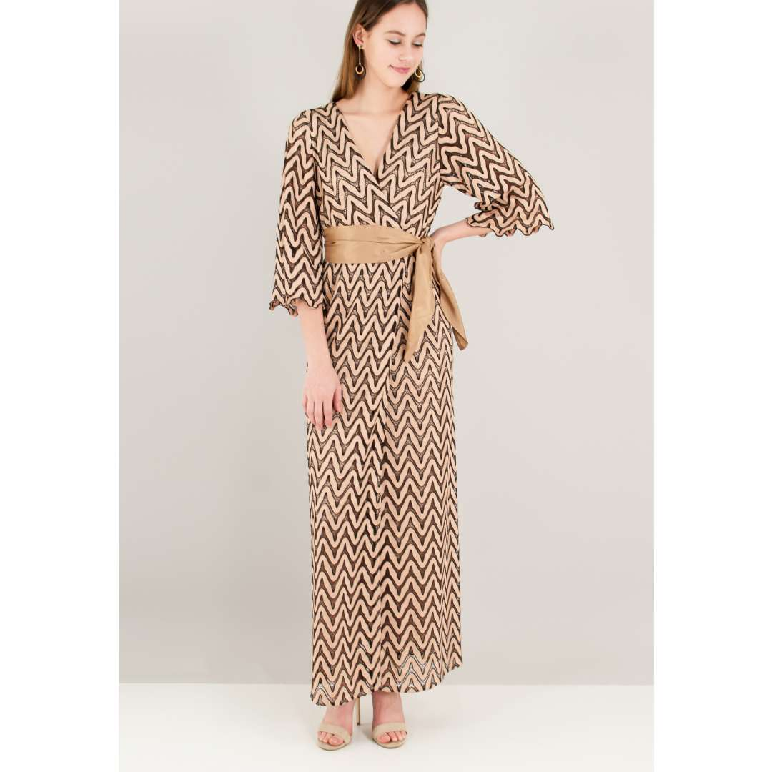 Maxi πλεκτό κρουαζέ φόρεμα ενδυματα   φορεματα   κρουαζέ φορέματα