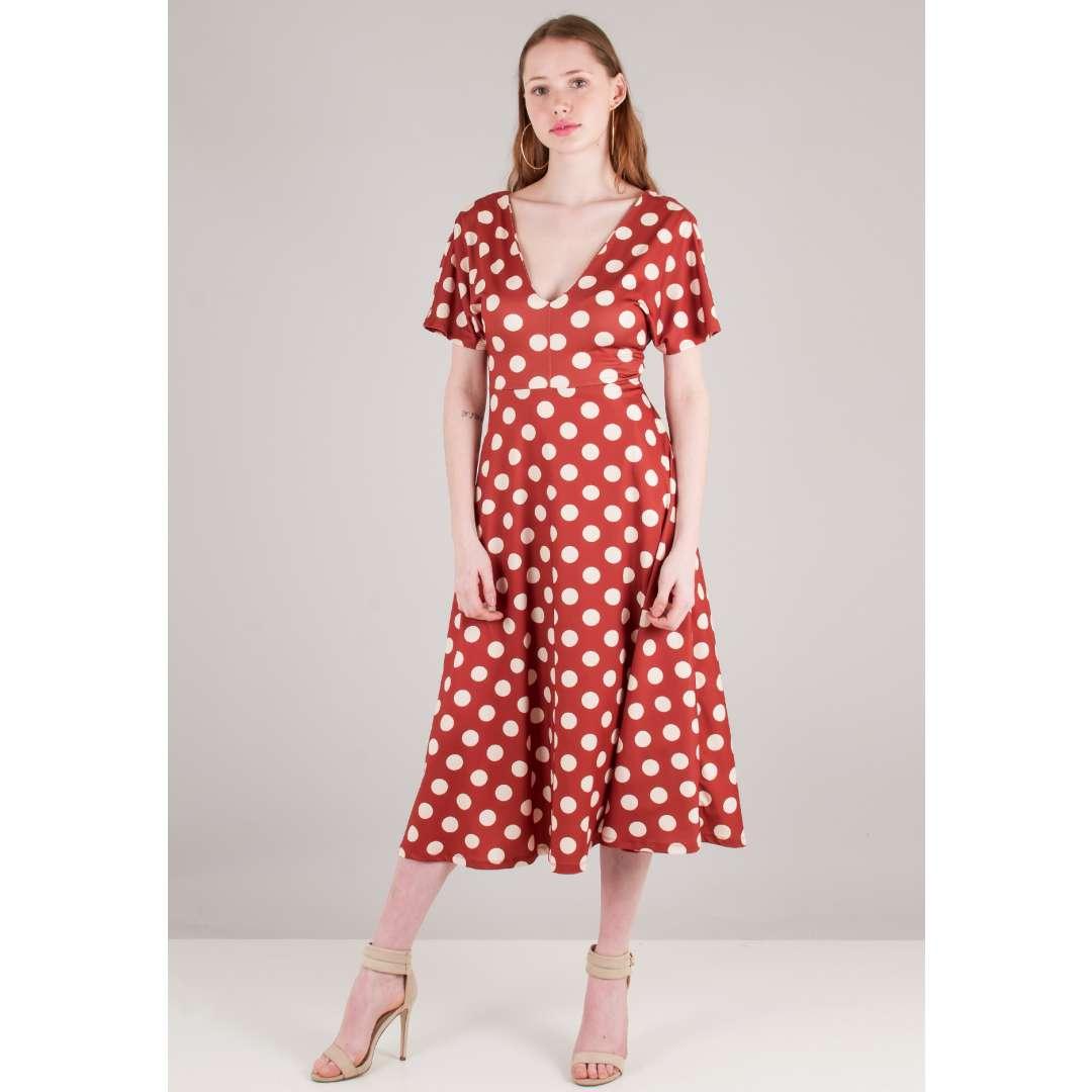 Πουά κλος φόρεμα ενδυματα   φορεματα   μίντι φορέματα