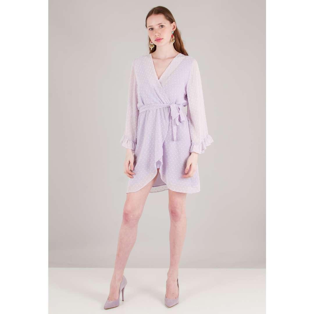 Μίνι κρουαζέ φόρεμα με ζώνη ενδυματα   φορεματα   κρουαζέ φορέματα