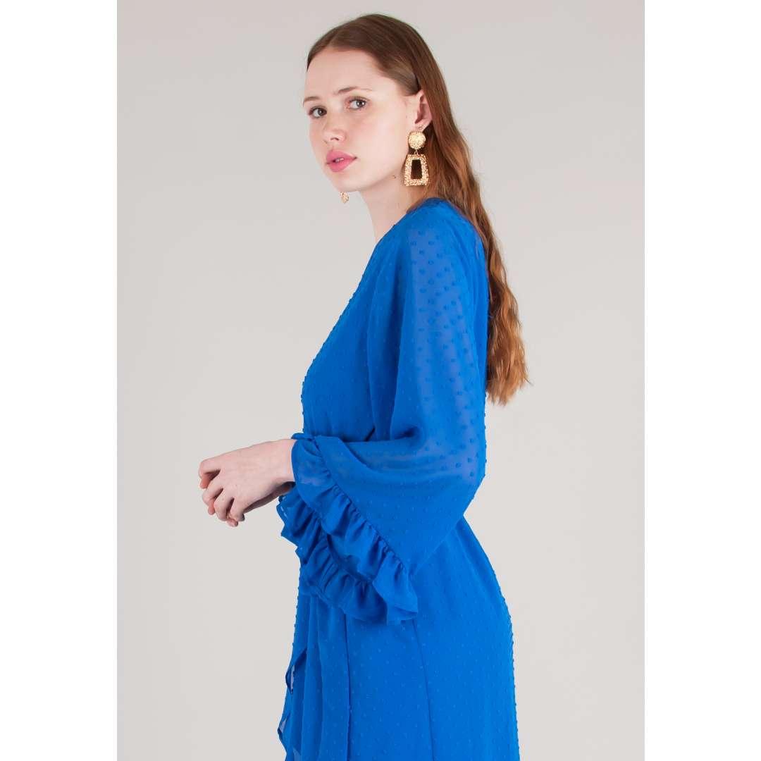 Μίνι κρουαζέ φόρεμα με δέσιμο ενδυματα   φορεματα   κρουαζέ φορέματα