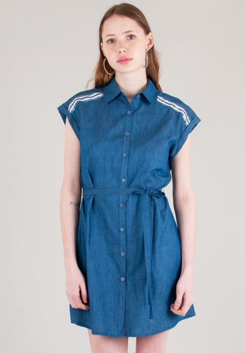 Shirt φόρεμα με λεπτομέρεια παγιέτες f3c7fc8282b