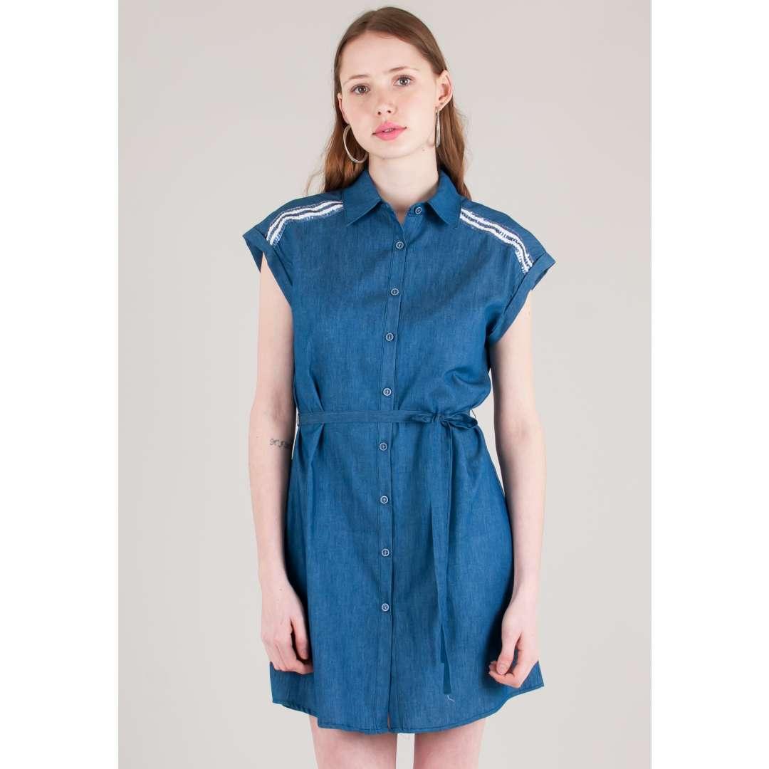 Shirt φόρεμα με λεπτομέρεια παγιέτες ενδυματα   φορεματα   shirt φορέματα