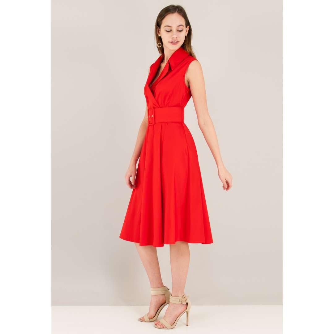 Κλος φόρεμα με ζώνη ενδυματα   φορεματα   μίντι φορέματα