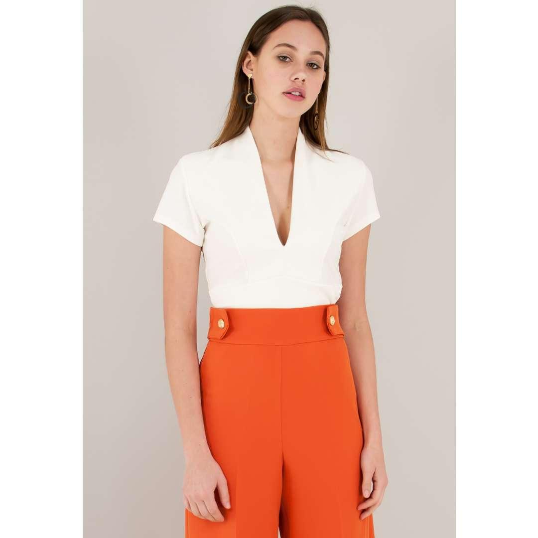Crop top με V ντεκολτέ ενδυματα   μπλουζεσ τοπ   cropped μπλούζες