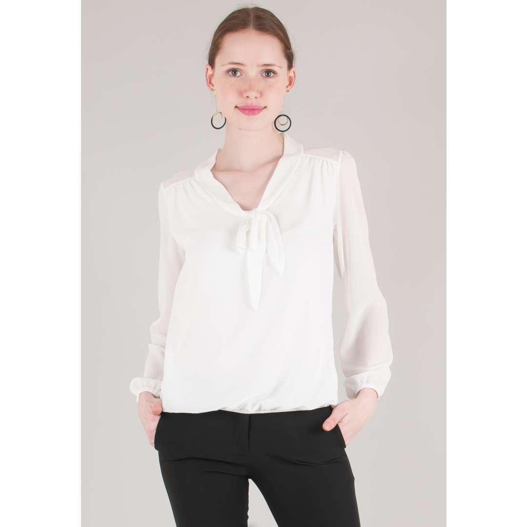 Μπλούζα με δέσιμο φιόγκο ενδυματα   πουκαμισα