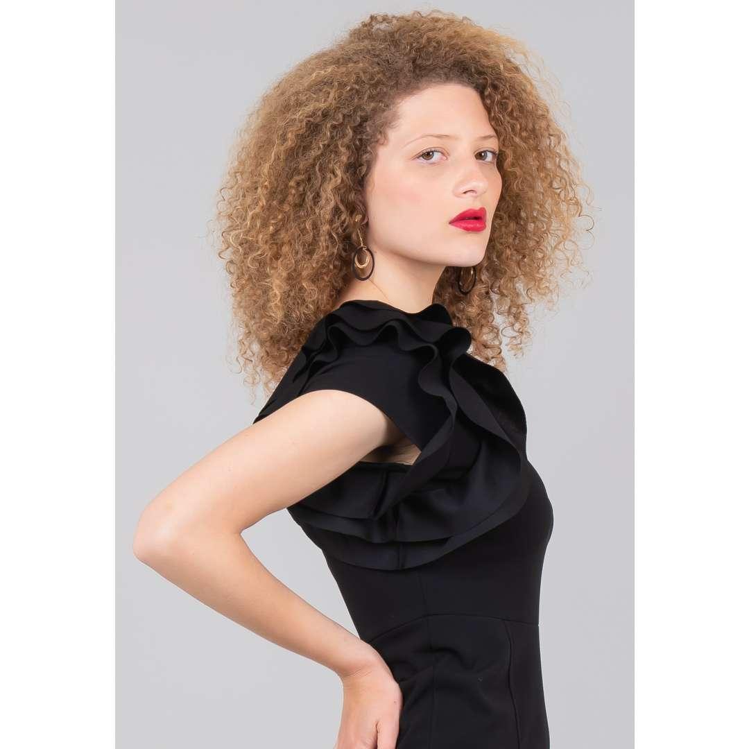 Φόρεμα με έναν ώμο και βολάν ενδυματα   φορεματα   εφαρμοστά φορέματα