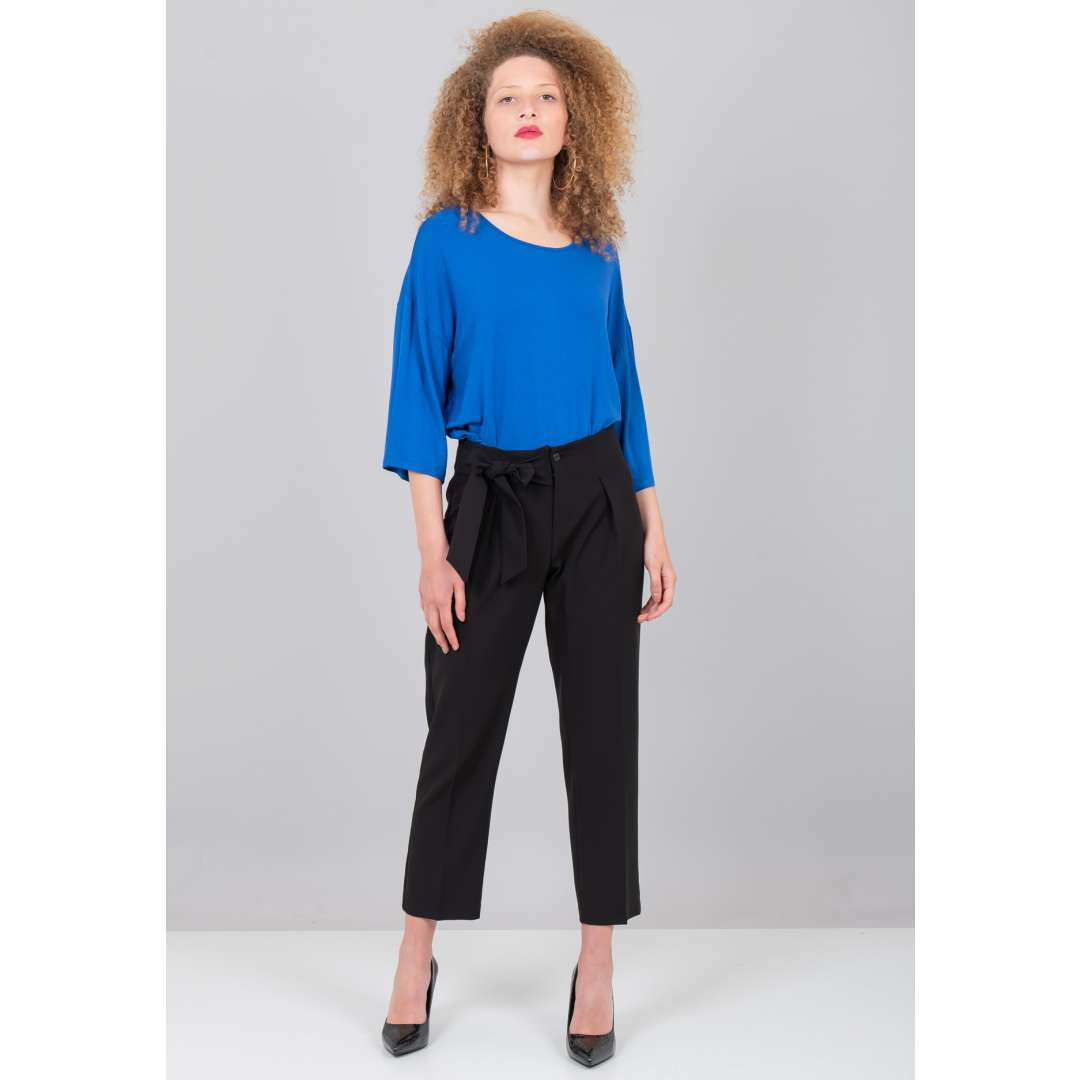 Ψηλόμεσο παντελόνι με φιόγκο μπροστά ενδυματα   παντελονια κολαν