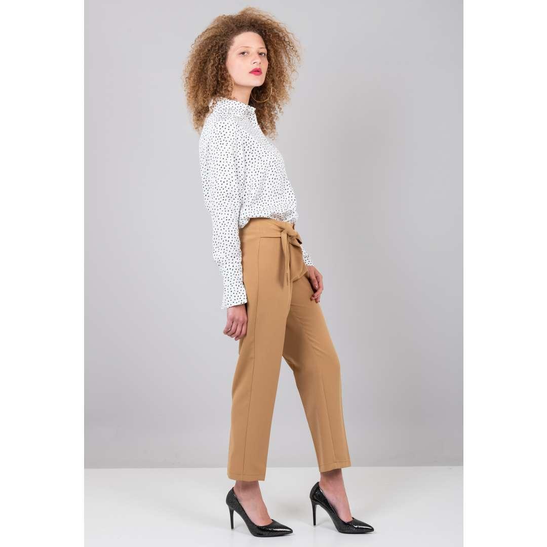 Ψηλόμεσο παντελόνι με δέσιμο μπροστά ενδυματα   παντελονια κολαν