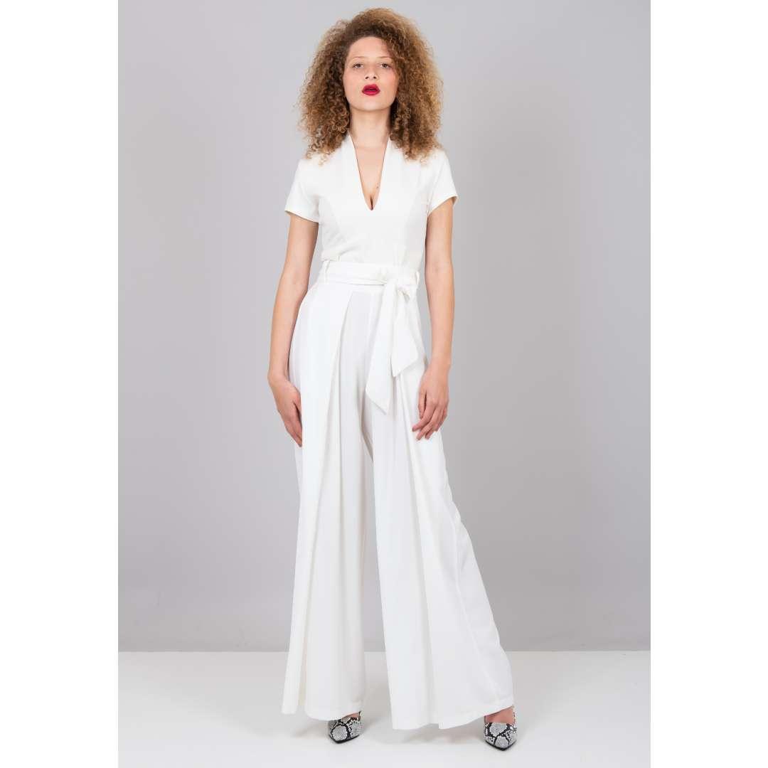 Ψηλόμεσο παντελόνι με πιέτες ενδυματα   παντελονια κολαν