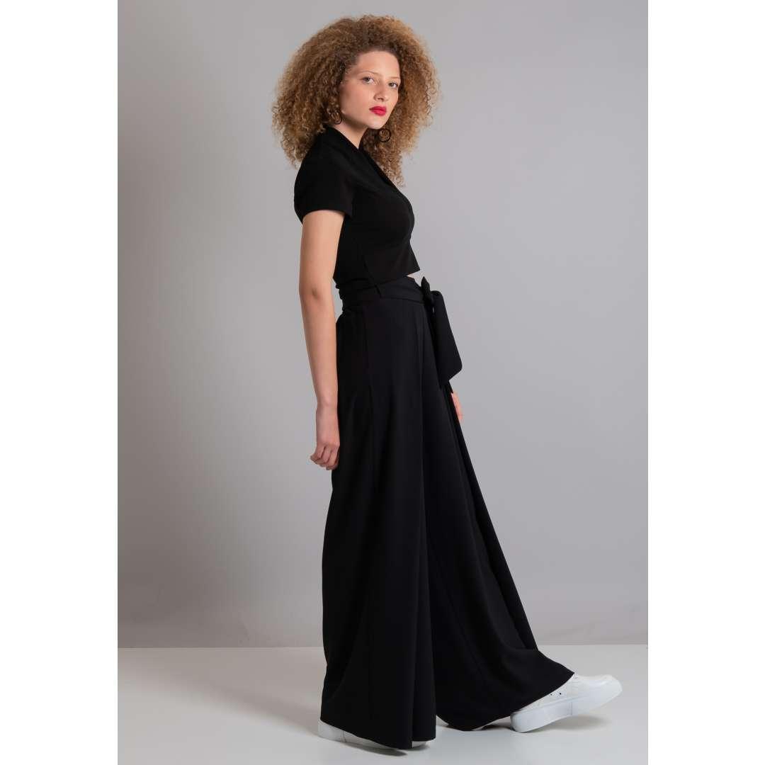 Ψηλόμεσο παντελόνι με ζώνη ενδυματα   παντελονια κολαν