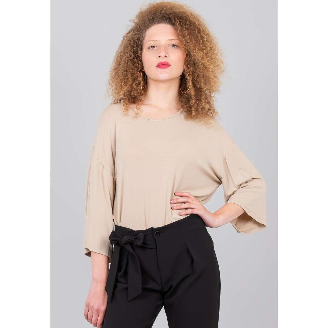 Μονόχρωμη loose μπλούζα ενδυματα   μπλουζεσ τοπ   basic μπλούζες