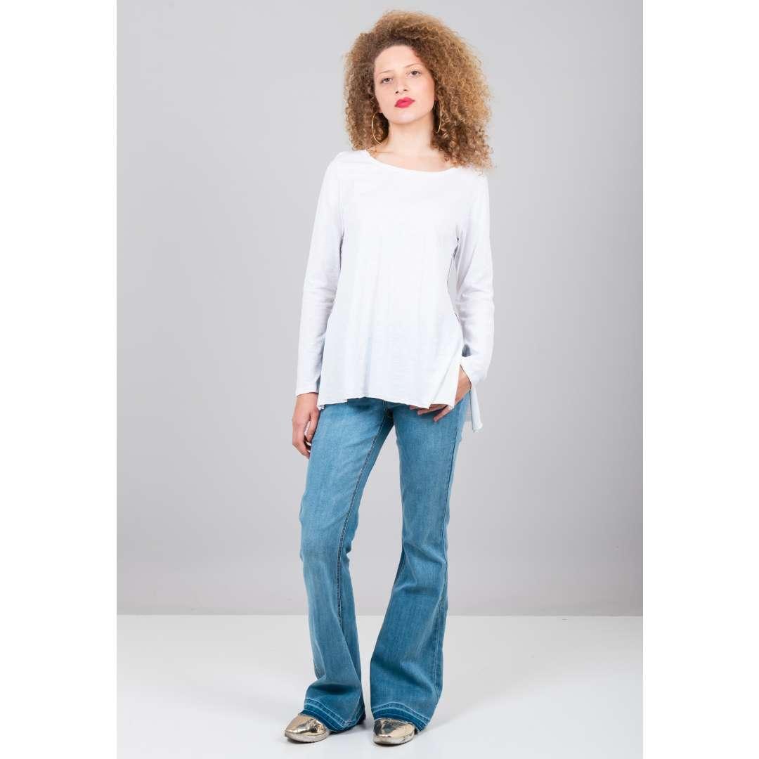 Μπλούζα με ρέλι σε αντίθεση ενδυματα   μπλουζεσ τοπ   όλα