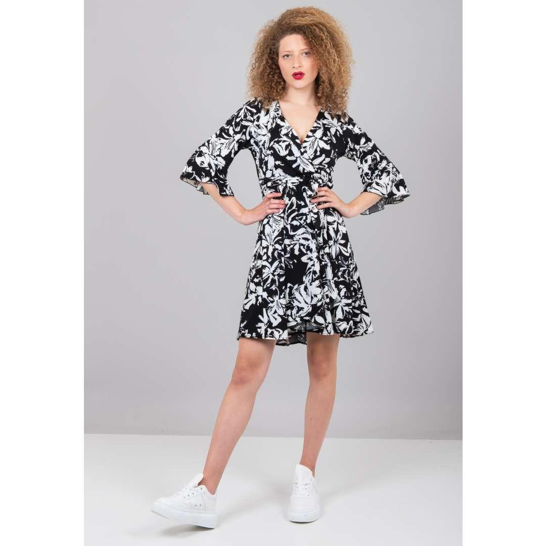 Μίνι εμπριμέ κρουαζέ φόρεμα ενδυματα   φορεματα   κρουαζέ φορέματα