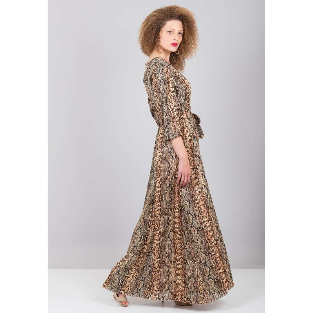 Φόρεμα με σχέδιο φίδι σε στιλ πουκάμισο ενδυματα   φορεματα   shirt φορέματα