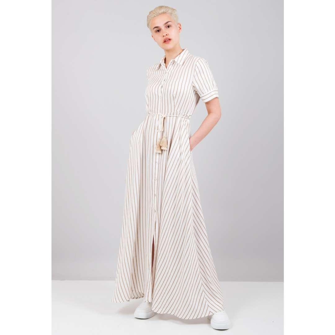 Ριγέ φόρεμα σε στιλ πουκάμισο ενδυματα   φορεματα   shirt φορέματα