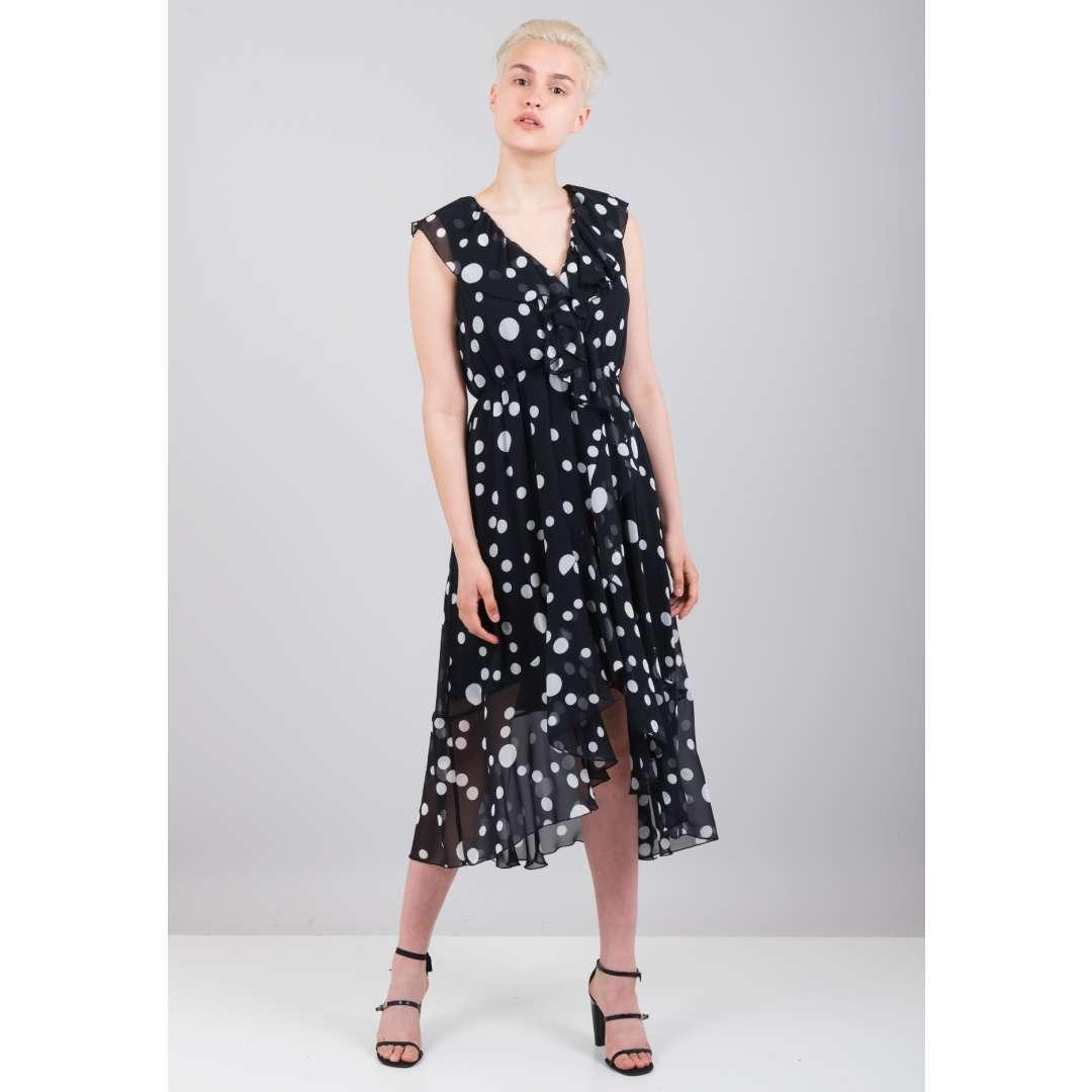Πουά κρουαζέ φόρεμα ενδυματα   φορεματα   μίντι φορέματα