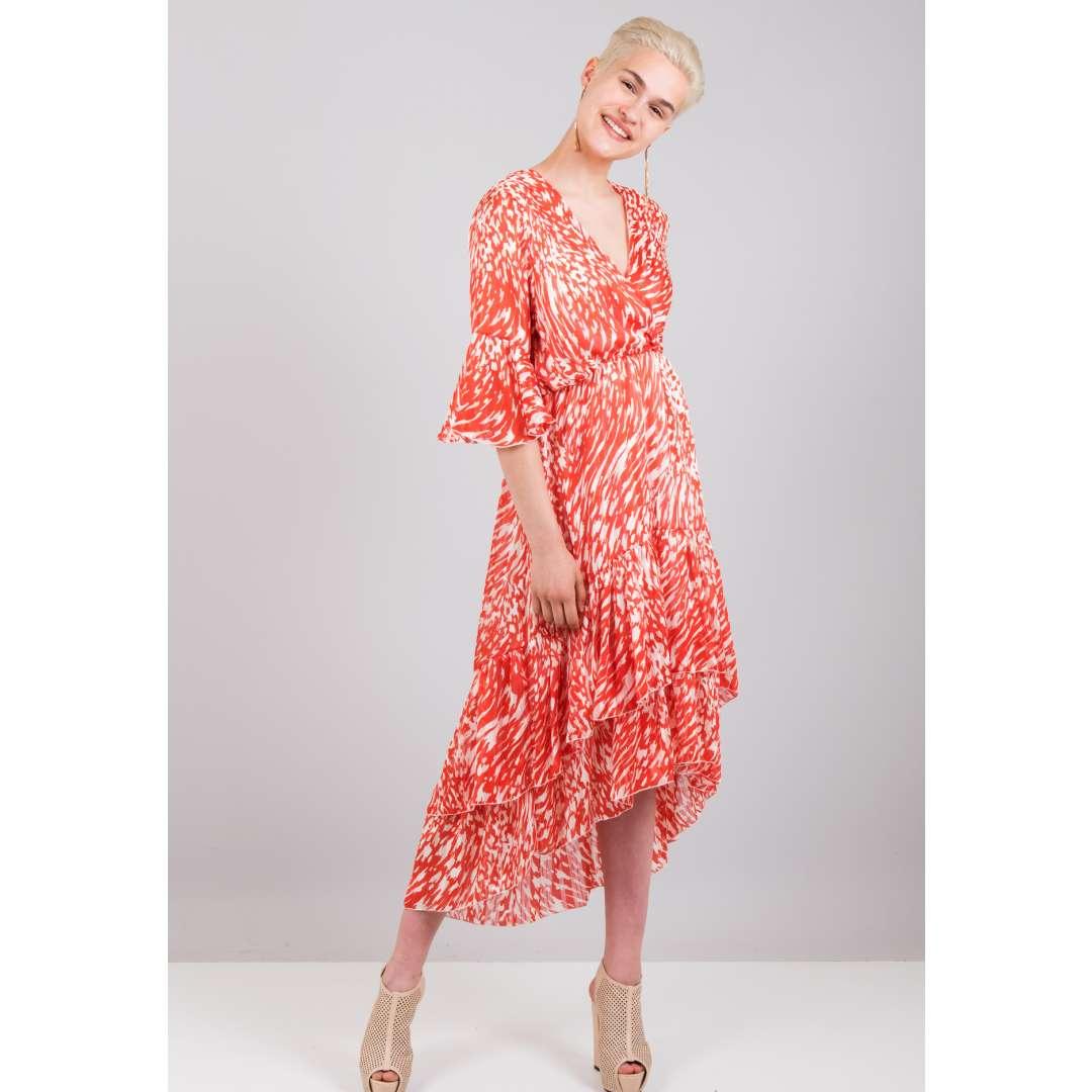 50c8a25ed808 Εμπριμέ κρουαζέ φόρεμα